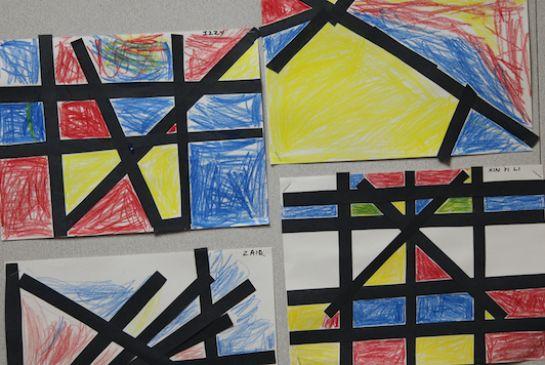 mondrian s primary colors artdocent articles issaquah schools