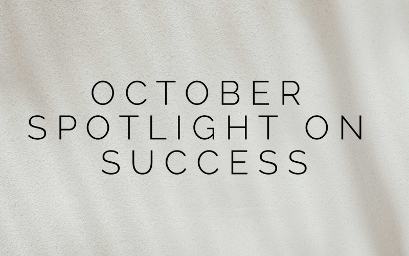 Spotlight on Success: October 2019 Article Image