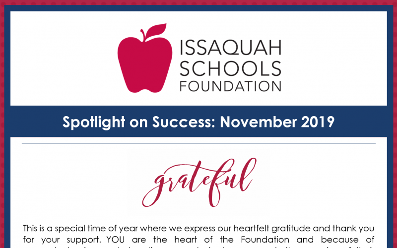 New Article: Spotlight on Success: November 2019