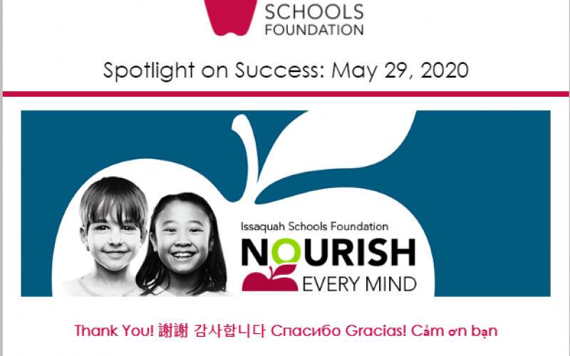 New Article: Spotlight on Success: May 29, 2020
