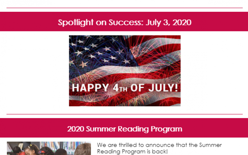 Spotlight on Success: July 3, 2020 Article Image