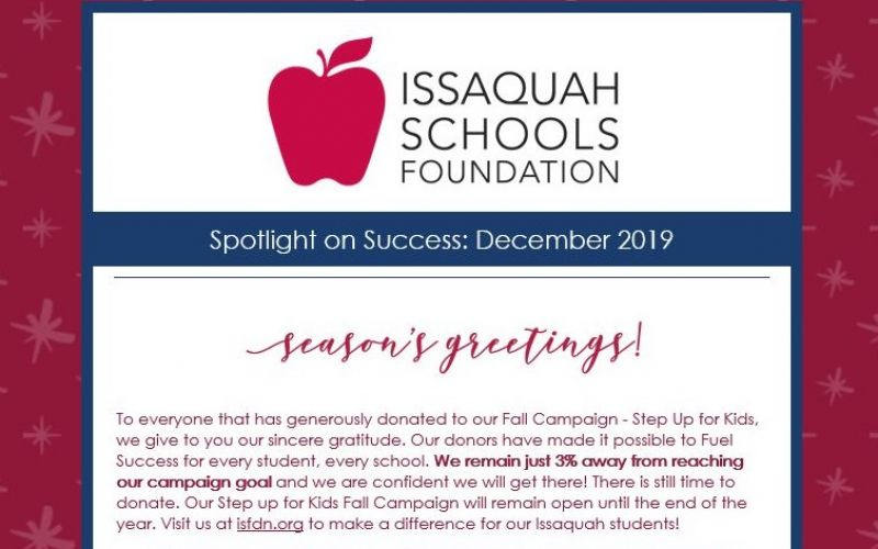 New Article: Spotlight on Success: December 2019