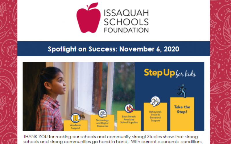 Spotlight on Success: November 6, 2020 Article Image