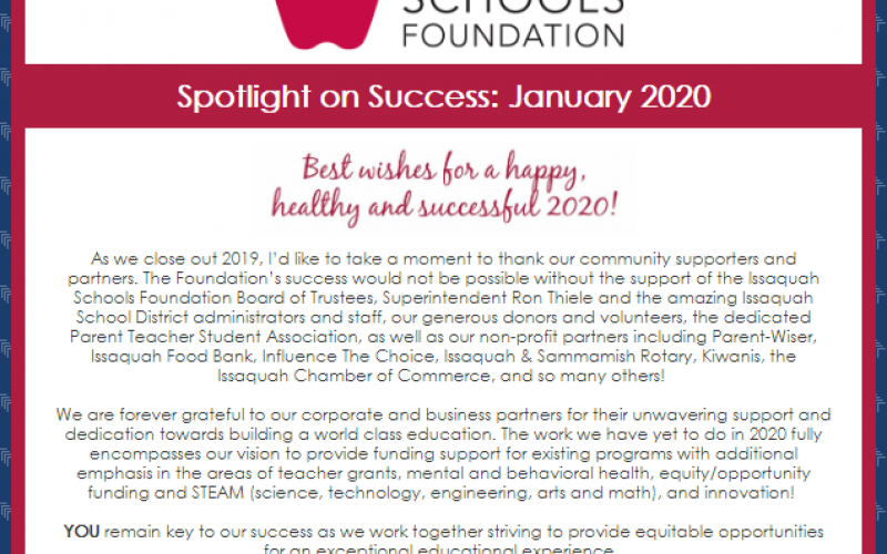 Spotlight on Success: January 2020